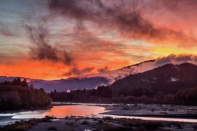 Photograph - Fire Sunrise Over Eel by Greg Nyquist