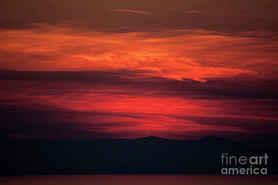 Photograph - Fire Sunset by Ana Mireles