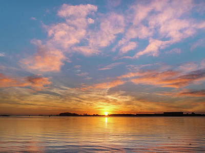 Photograph - Fire Sunset On Humboldt Bay by Greg Nyquist