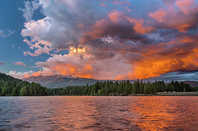 Photograph - Fire Sunset Over Shasta by Greg Nyquist