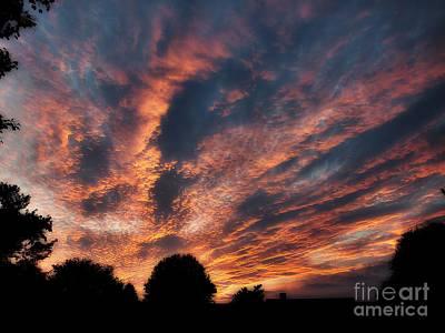 Photograph - Fire Swept Sky  by Christy Ricafrente