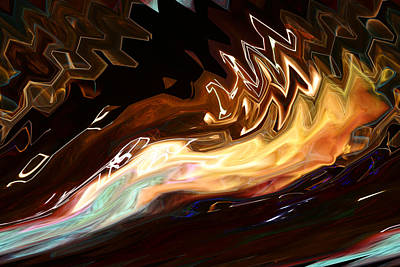 Dream Digital Art - Fire Swimmer by Fred Pauli