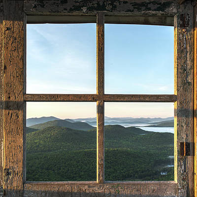 Photograph - Fire Tower Frame by Brad Wenskoski