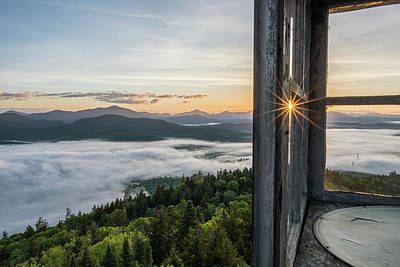 Photograph - Fire Tower Sunburst by Brad Wenskoski