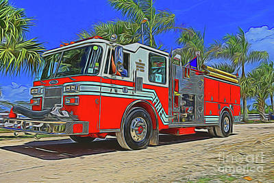 Photograph - Fire Truck 15218 by Ray Shrewsberry