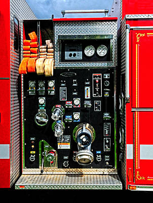 Fire Truck Control Panel Art Print by Dave Mills