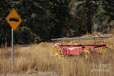 Fire Truck Crossing Art Print by David Pettit