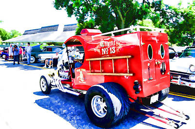 Fire Equipment Painting - Fire Truck Engine No.13  2 by Lanjee Chee