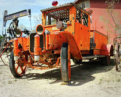 Photograph - Fire Truck In Taft Ca by Timothy Bulone