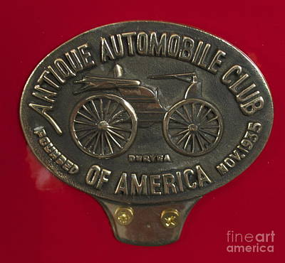 Photograph - Fire Truck Plaque by Pamela Walrath
