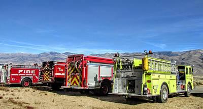 Photograph - Fire Trucks by Marilyn Diaz