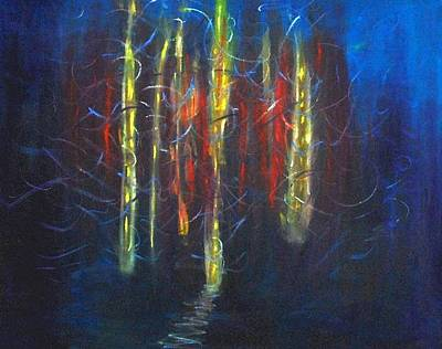 Wall Art - Painting - Fire Tunnel by Mary Leonard