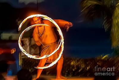 Photograph - Fire Twirl by Ray Shiu