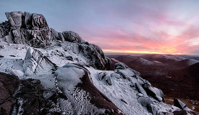 Photograph - Fire V Ice Bearnagh Panorama by Glen Sumner