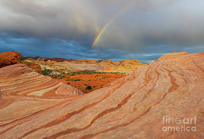 Valley Of Fire Photograph - Fire Wave Rainbow Dawn by Mike Dawson