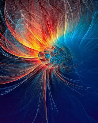 Burnt Digital Art - Fire Wind by Marfffa Art