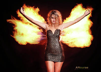 Photograph - Fire Wings by Andrew Nourse