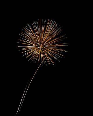 Fire Works Bursts Art Print by Gary Langley