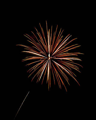Fire Works Art Print by Gary Langley