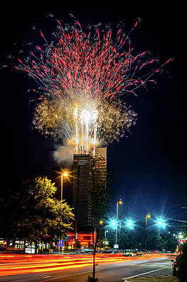 Photograph - Fire Works In Fort Wayne by Productions by JPM Media