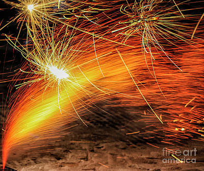 Photograph - Fire Works by Patricia Hofmeester