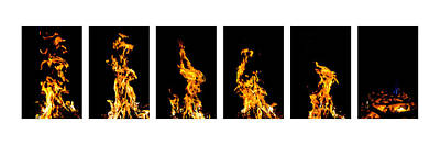Photograph - Fire X 6 by Tomasz Dziubinski
