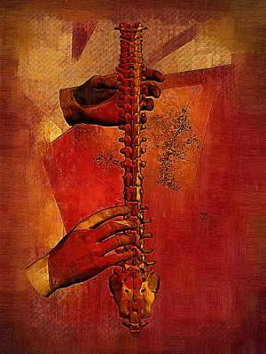 Chiropractic Digital Art - Fire4 by Joseph Ventura