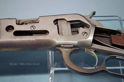 1886 Mixed Media - Firearms Cut Away View Model 1886 Rifle 45cal by Thomas Woolworth