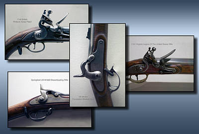 Musket Mixed Media - Firearms Flintlock Collage by Thomas Woolworth