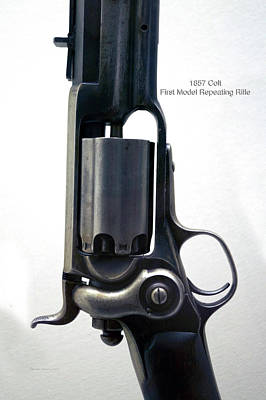 First Amendment Mixed Media - Firearms Military 1857 Colt First Model Repeating Rifle by Thomas Woolworth