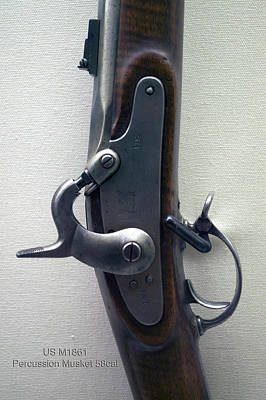 Musket Mixed Media - Firearms Us M1861 Percussion Musket 58cal Vertical by Thomas Woolworth