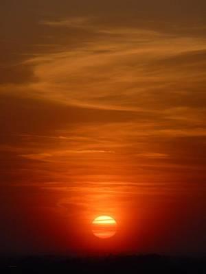Fireball At Sunset Art Print by Tim Mattox