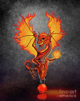 Drink Digital Art - Fireball Dragon by Stanley Morrison