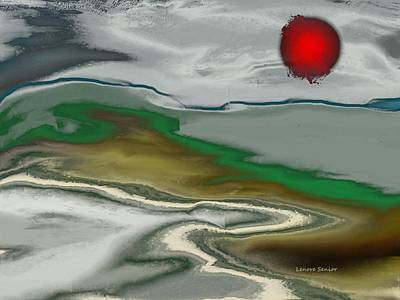 Social Commentary Painting - Fireball Over The Landscape by Lenore Senior