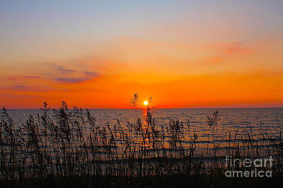 Photograph - Fireball Sunset On Bluewater Beach by Nina Silver