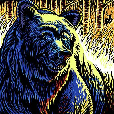 Mark Wagner Wall Art - Mixed Media - Firebear by Mark Wagner