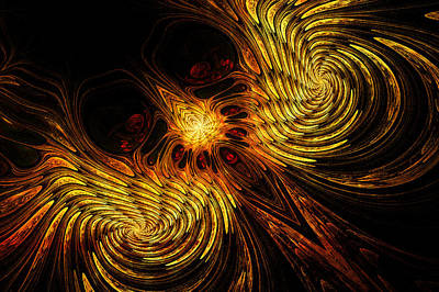 Abstract Digital Digital Art - Firebird by John Edwards