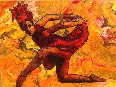 Painting - Firebird  by Karen Buford