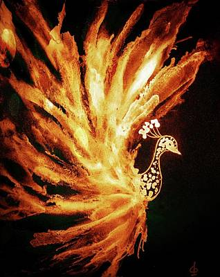 Painting - Firebird by Lilia D