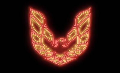 Digital Art - Firebird Neon Sign by Ricky Barnard
