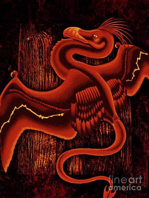 Phoenix Bird Drawing - Firebird by Robert Ball