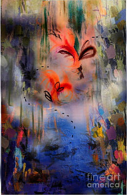 Wall Art - Mixed Media - Firebirds by Melinda Zielfelder