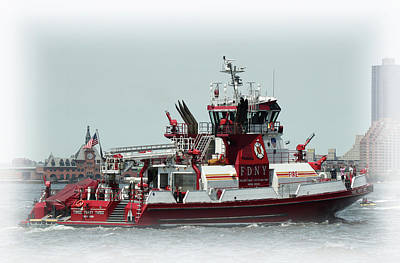 Photograph - Fireboat 343 by Cate Franklyn