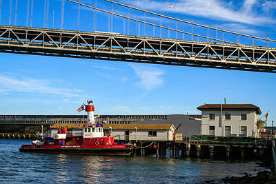 Photograph - Fireboat And Sffd Station 35 by Bonnie Follett