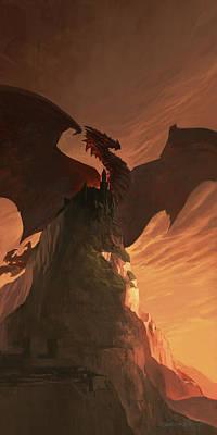 Fireborn Dragon Art Print by Sedone Thongvilay