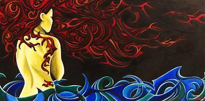 Pele Painting - Firebrand IIi by Audrey N Reda