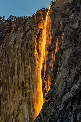 Rare Sunset Photograph - Firefall by Bill Gallagher