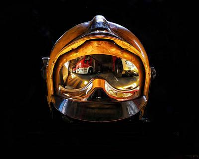 Photograph - Firefighter Helmet #2 by Ferran Serra