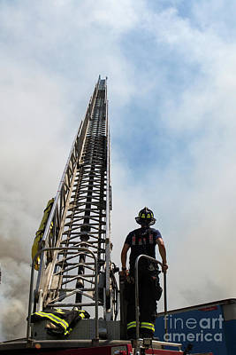 Photograph - Firefighter W Arial by Lloyd Alexander