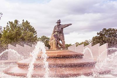 Kansas City Photograph - Firefighters Fountain by Pamela Williams